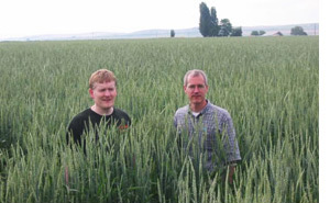 Roger and Neil in the spelt