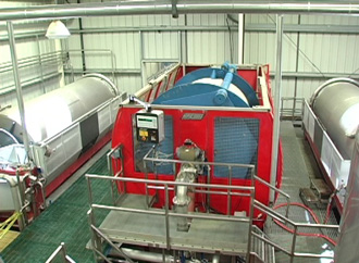 Meet the press: 24-tons of hydraulic juice-goosing power.
